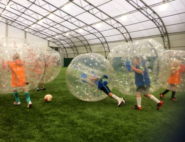 Children's indoor Bubble Football event