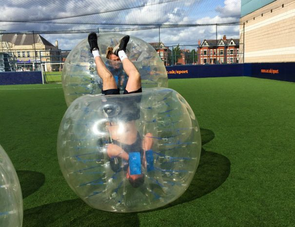 Bubble Football event for university Students in Manchester