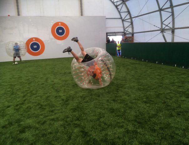 Play Zorb Football indoors in Manchester