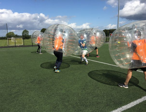 bubble football sandbach and middlewich