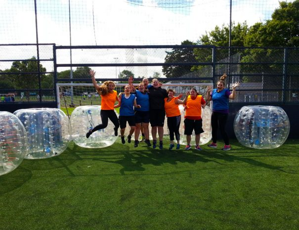 Bubble footie hen party