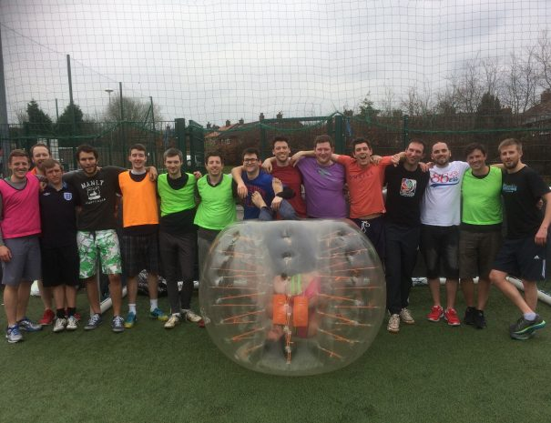 Bubble Football Stag Upside Down