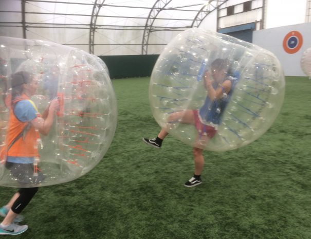 Hen Do Bubble Football indoors