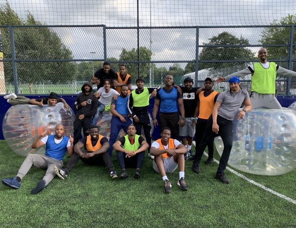 Lucien's Stag Do Bubble football